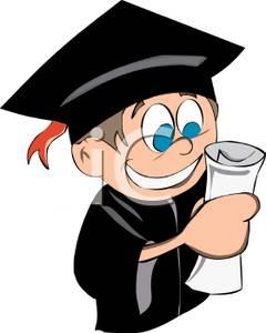 Cartoon High School Diploma Clipart.