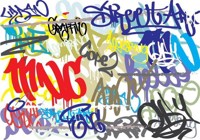 Graffiti Abstract Background.
