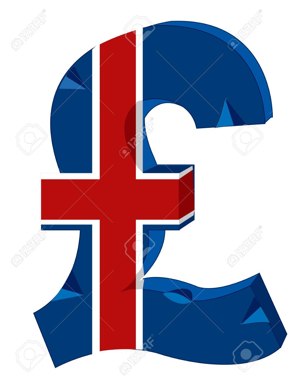 Il Simbolo Del Denaro In Gran Bretagna Clipart Royalty.