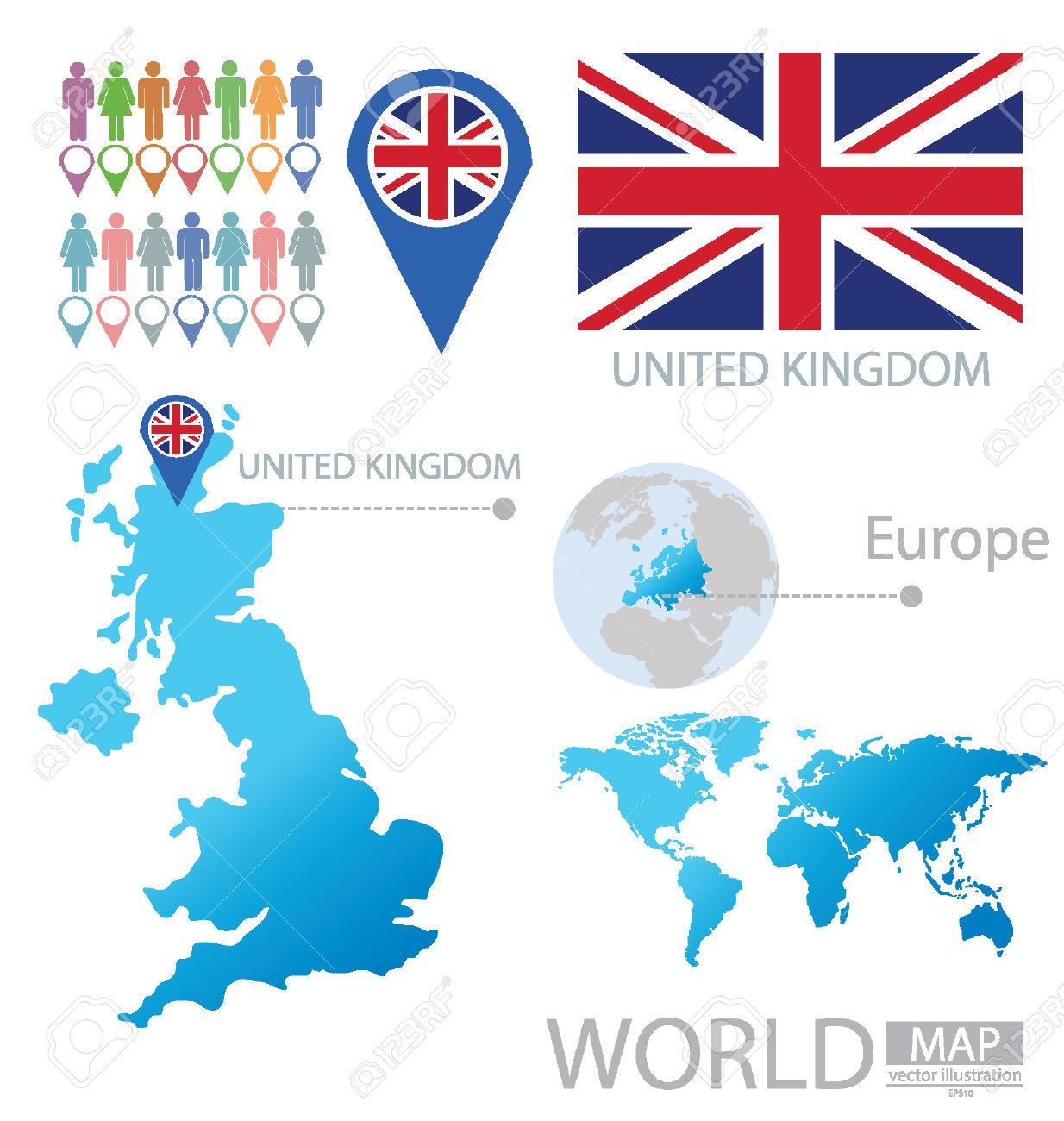 Regno Unito Di Gran Bretagna E Irlanda Del Nord Illustrazione.