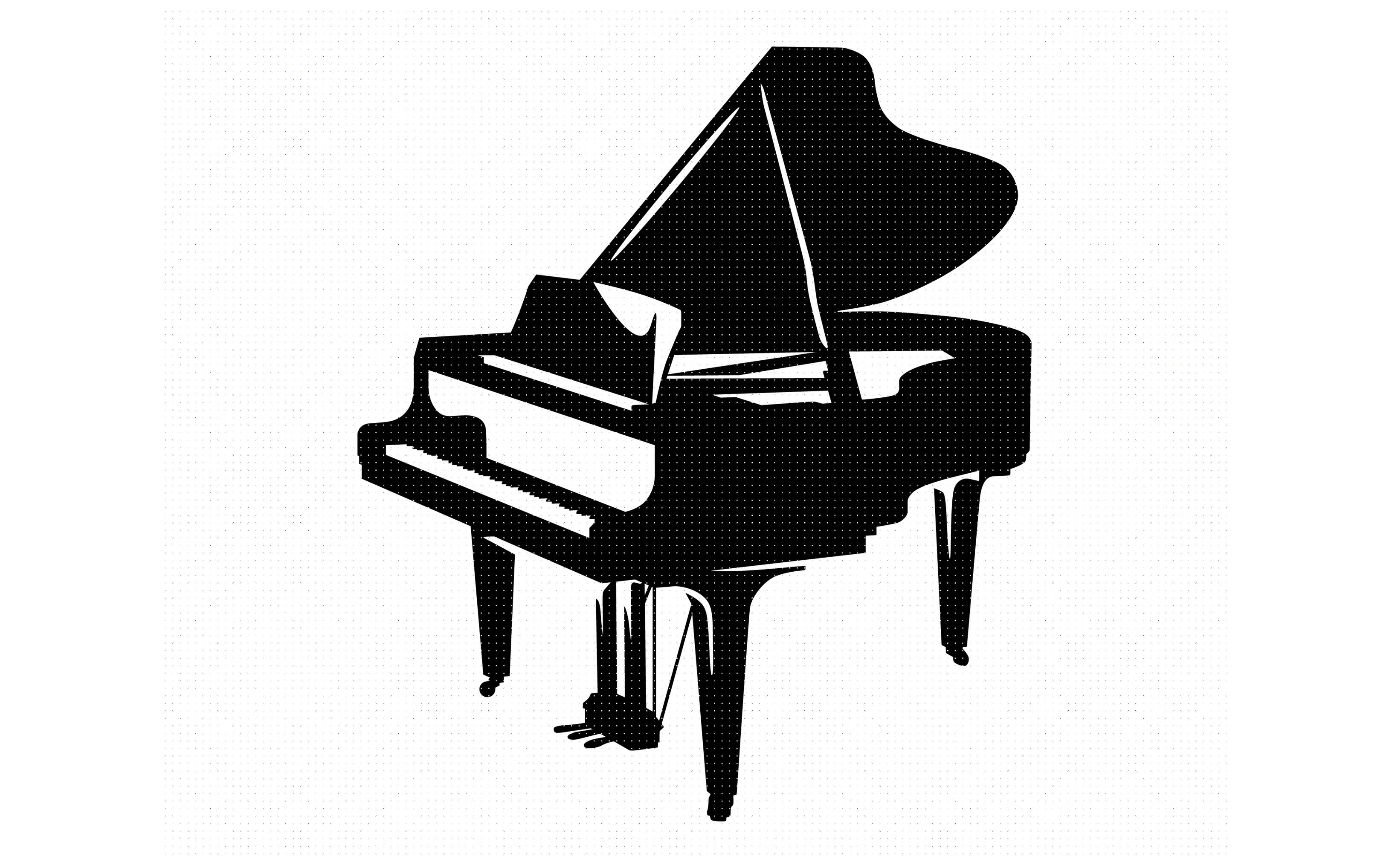 grand piano svg, dxf, png, eps, cricut, silhouette, cut file.