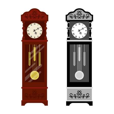 493 Grandfather Clock Stock Vector Illustration And Royalty Free.