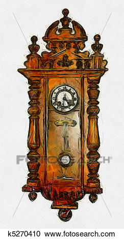 Grandfather Clock Clipart.