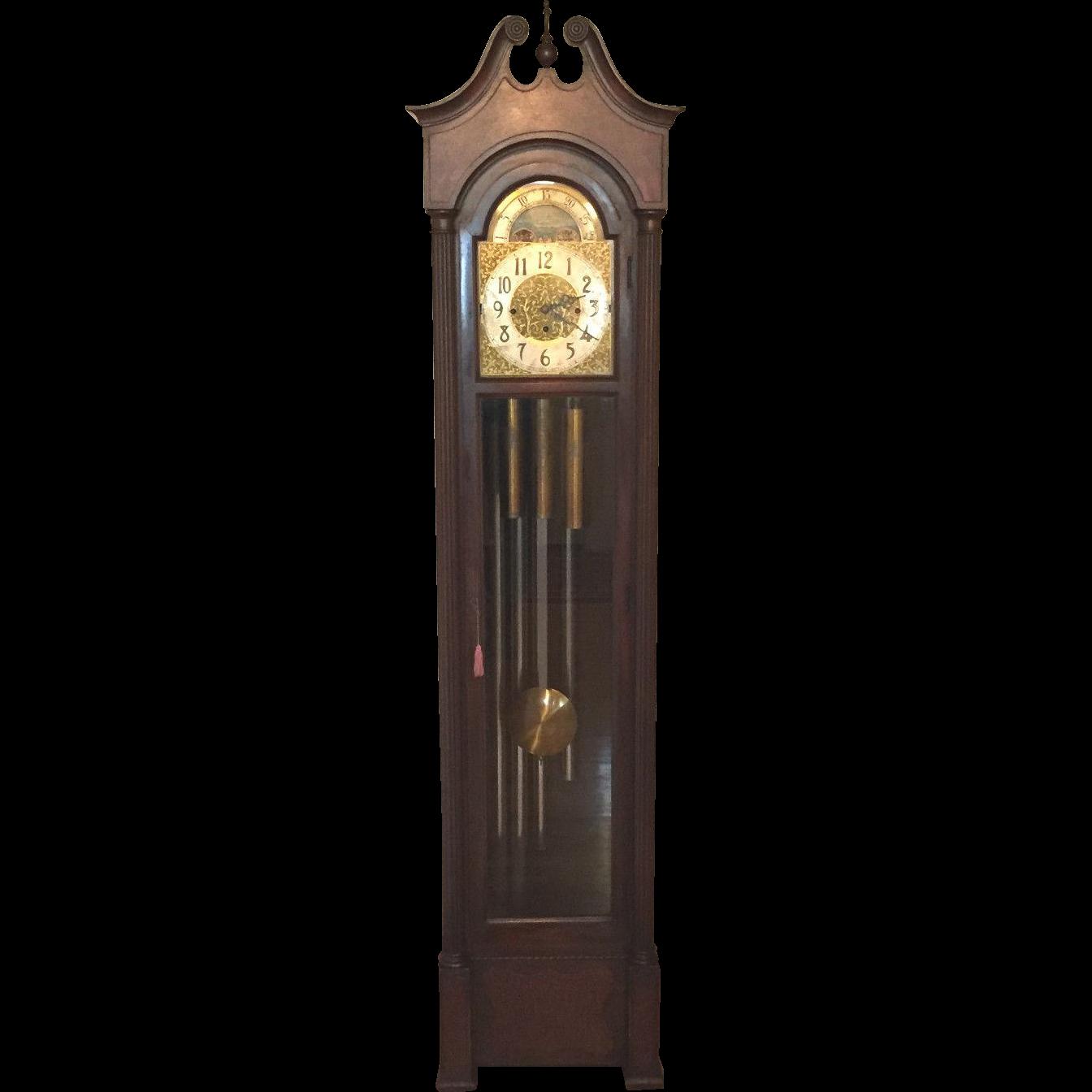 Grandfather Clock PNG Clipart.