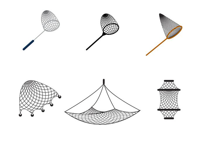 Free Fishing Net Vector.