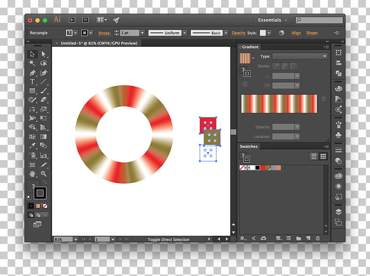 Color gradient Graphics software Illustrator, others PNG.