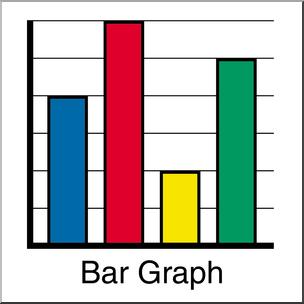 Clip Art: Graphing: Bar Graph Color I abcteach.com.