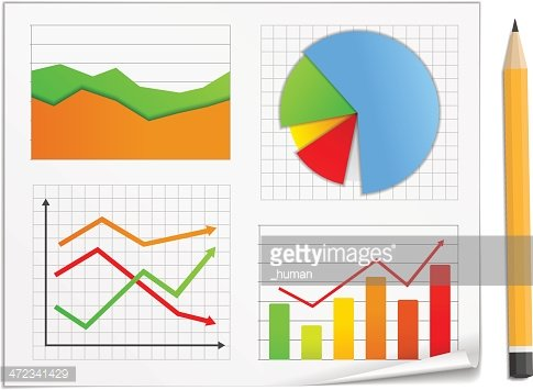 Graphs and Charts Clipart Image.