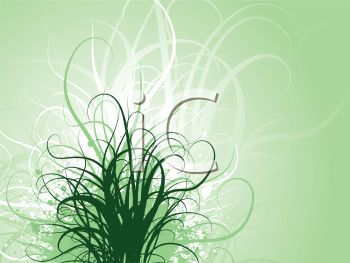 Curly Grass Background.