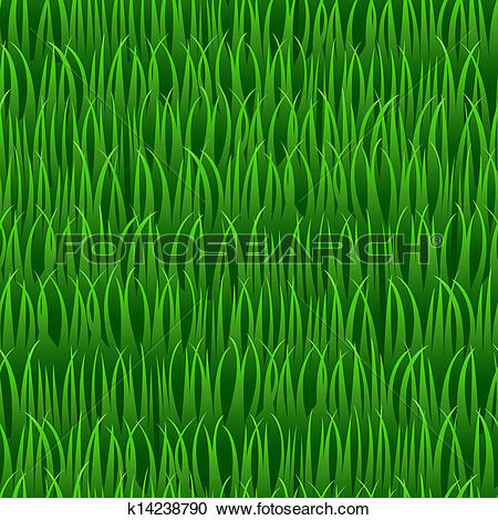 Clipart of grass seamless vector background k14238790.