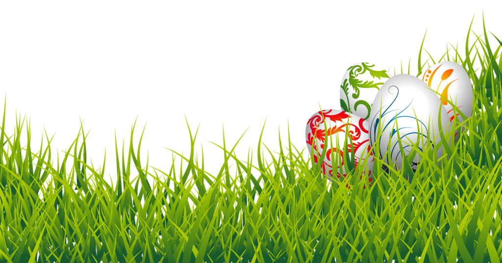Easter Eggs and Grass PNG Clipart Picture.
