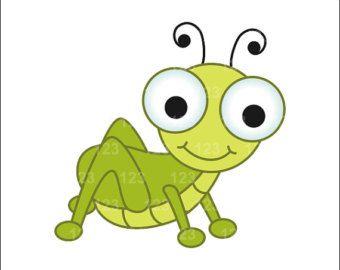 Cute Grasshopper Clipart images.