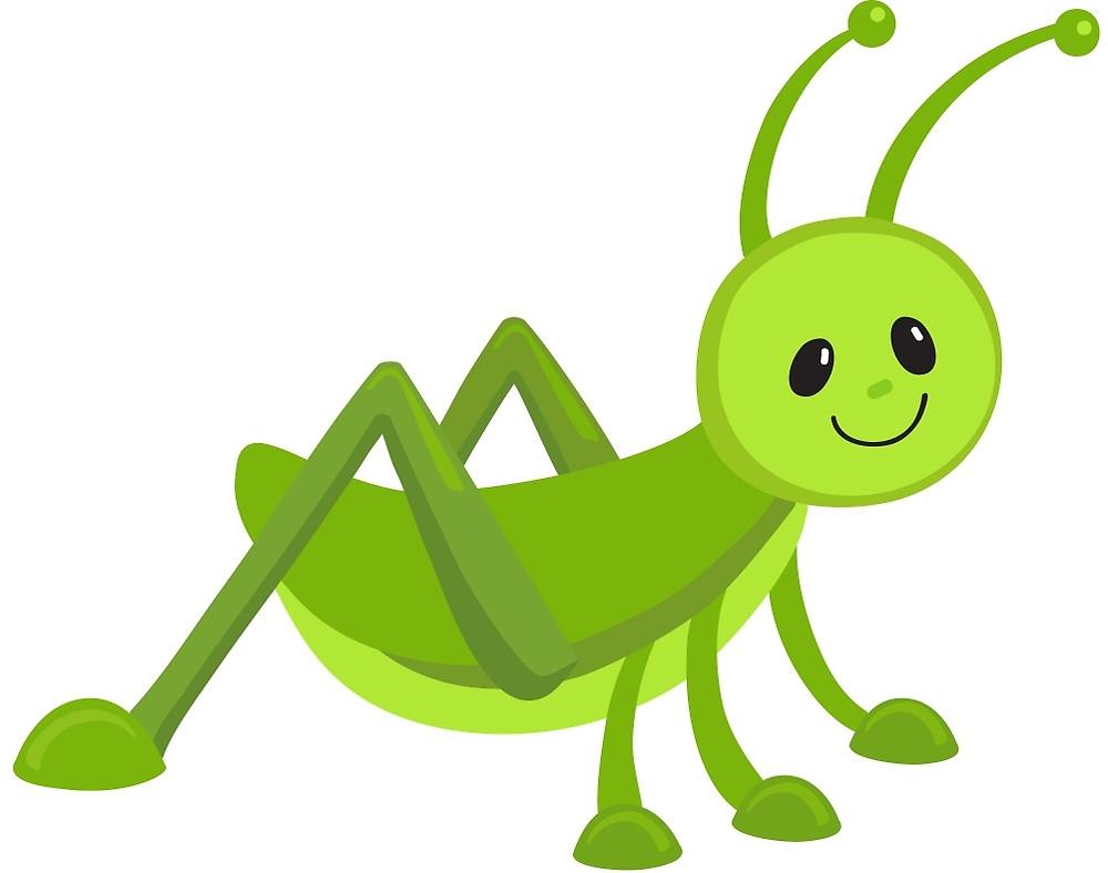 Grasshopper clipart adorable pencil and in color grasshopper.