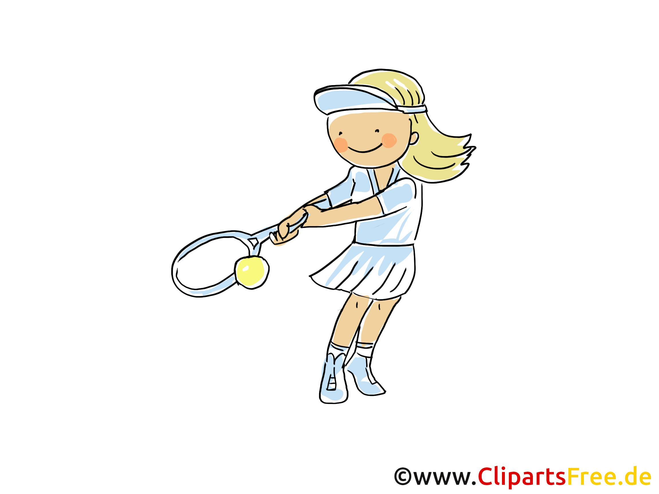 Tennis spielen Bild, Cliparts Sport, Comic, Cartoon, Image gratis.