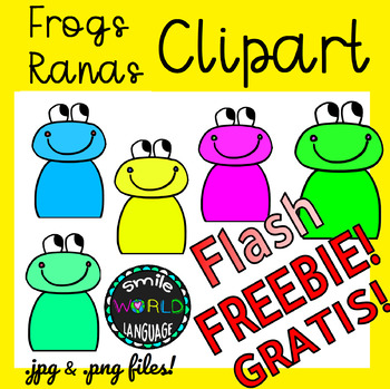 Clipart Frog Animal Rana Graphics Flash Freebie 48h Free Gratis Commercial  use.