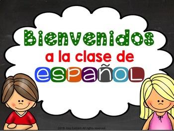 Bienvenidos A La Clase De Espanol Worksheets & Teaching.
