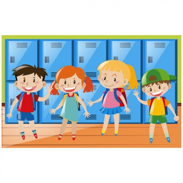 Fondo de niños en el colegio Vector Gratis.