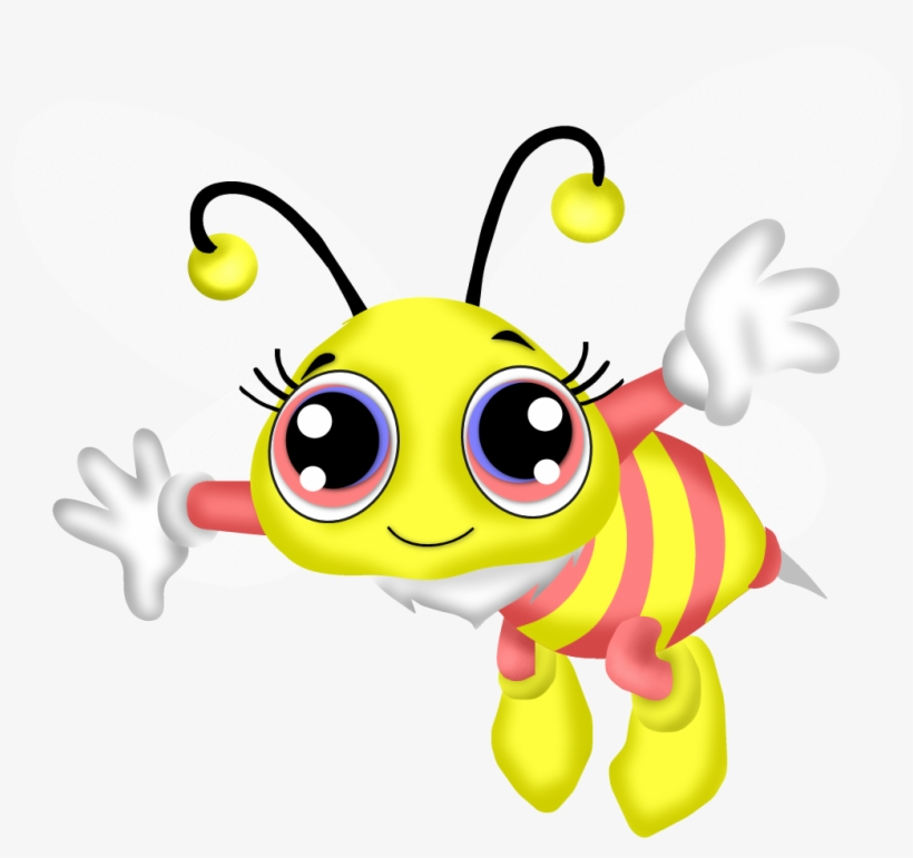 Png Black And White Library Cartoon Bee Clipart.
