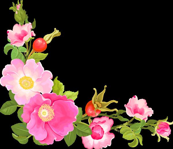 Clipart gratuit bordure fleurs 8 » Clipart Station.