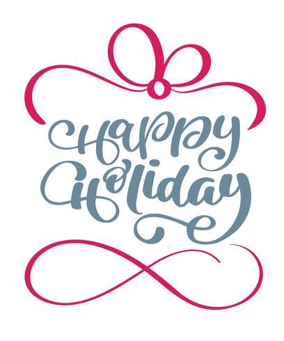 Joyeuses fêtes calligraphie lettrage texte vectoriel. Pour.