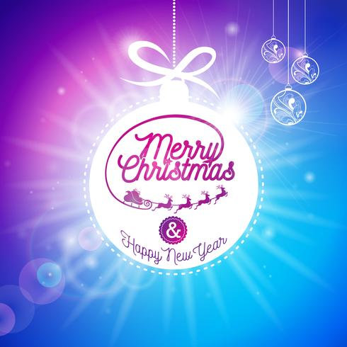 Vector illustration de joyeuses fêtes de Noël et bonne année.