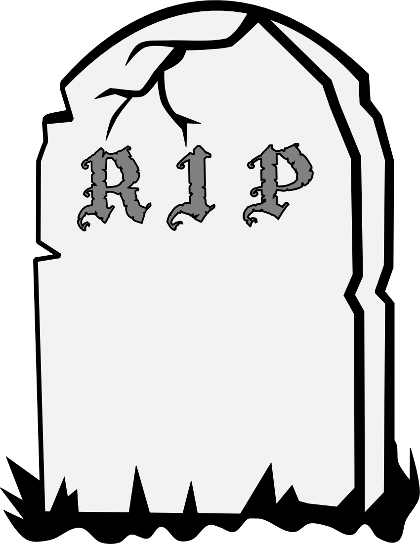 Gravestone Rip Page Clipart.