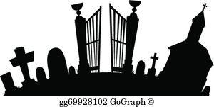 Graveyard Clip Art.