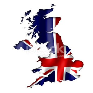 Great Britain Map and Flag Clip Art premium clipart.