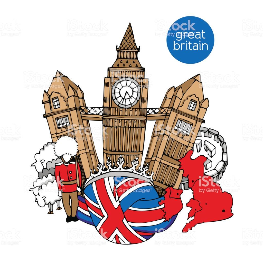 Great Britain Vector Illustration Stock Illustration.