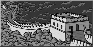 Great wall of china clipart 5 » Clipart Station.