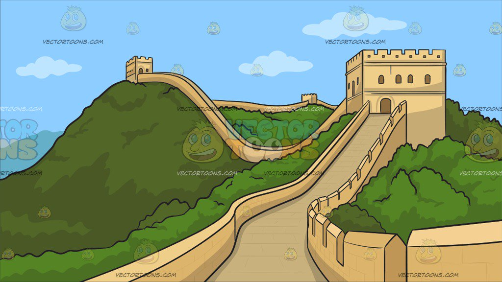 The Great Wall Of China Clipart.