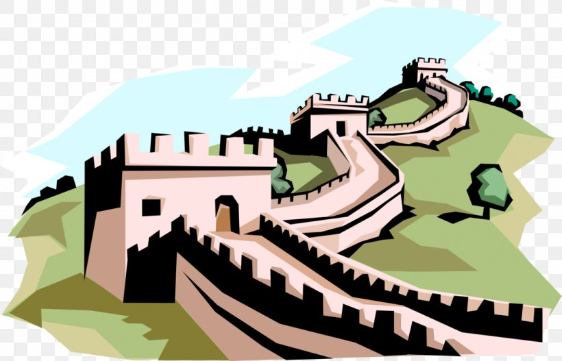 Great Wall Of China Clip Art Image Vector Graphics, PNG.