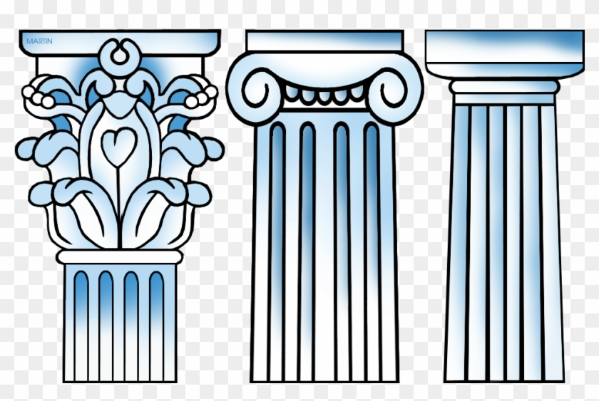 Greek Columns Drawing Clipart Ancient Greece Classical, HD.