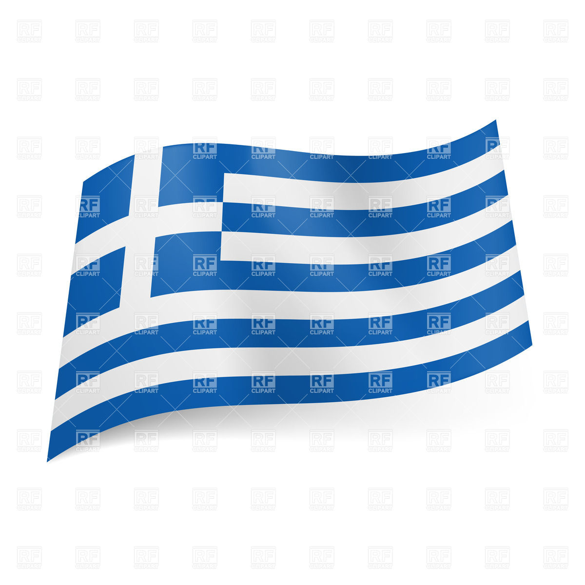 National flag of Greece Stock Vector Image.