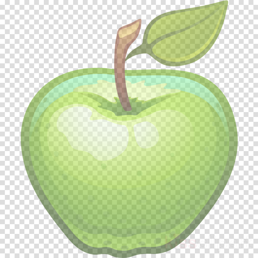 granny smith green apple fruit food clipart.
