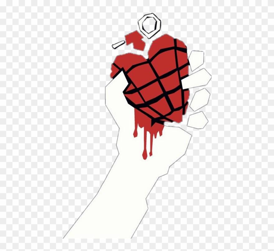 Green Day Heart Hand Grenade Clipart (#3216000).
