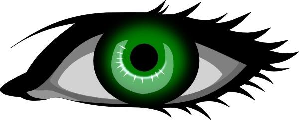 Green Eye clip art Free vector in Open office drawing svg.