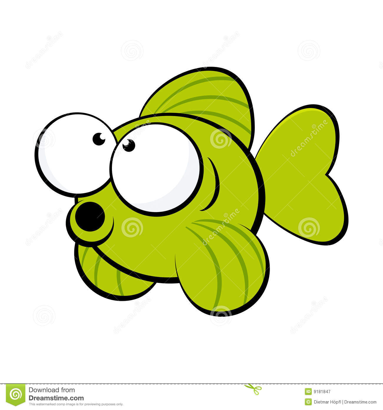 Green Fish Royalty Free Stock.