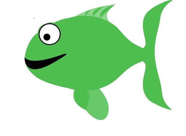 Light Green Happy Fish Clip Art at Clker.com.