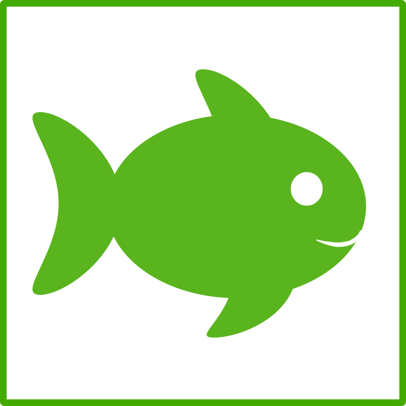 Free Clipart: Eco green fish icon.