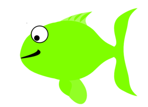 Green Happy Fish Clip Art at Clker.com.