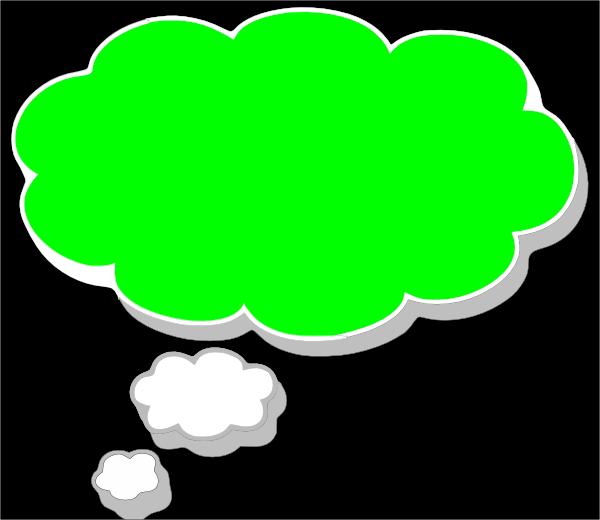 Green Screen Dream Bubble Clip Art at Clker.com.