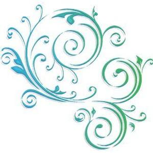 1596 Swirls free clipart.