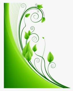 Free Greenery Border Clip Art with No Background.