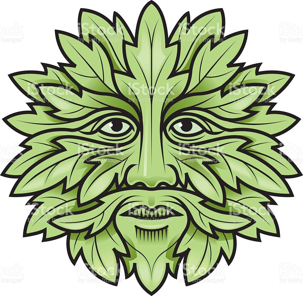 Green Man Clipart.