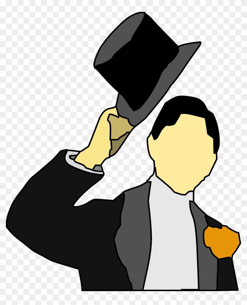 Tuxedo Tux Topper Hat Man Png Image.