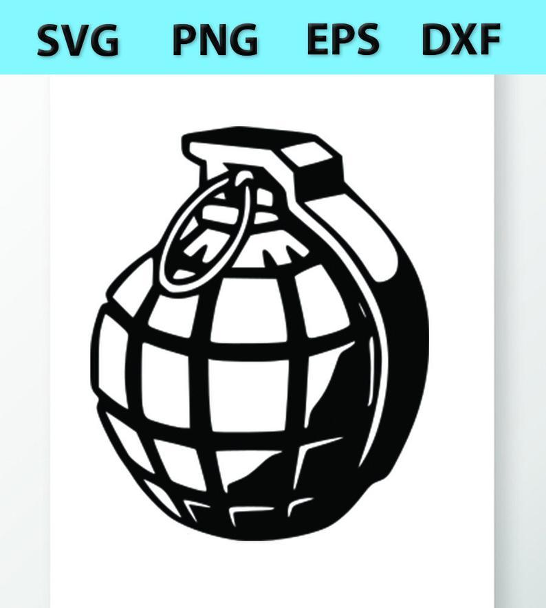 Hand Grenade SVG Files.