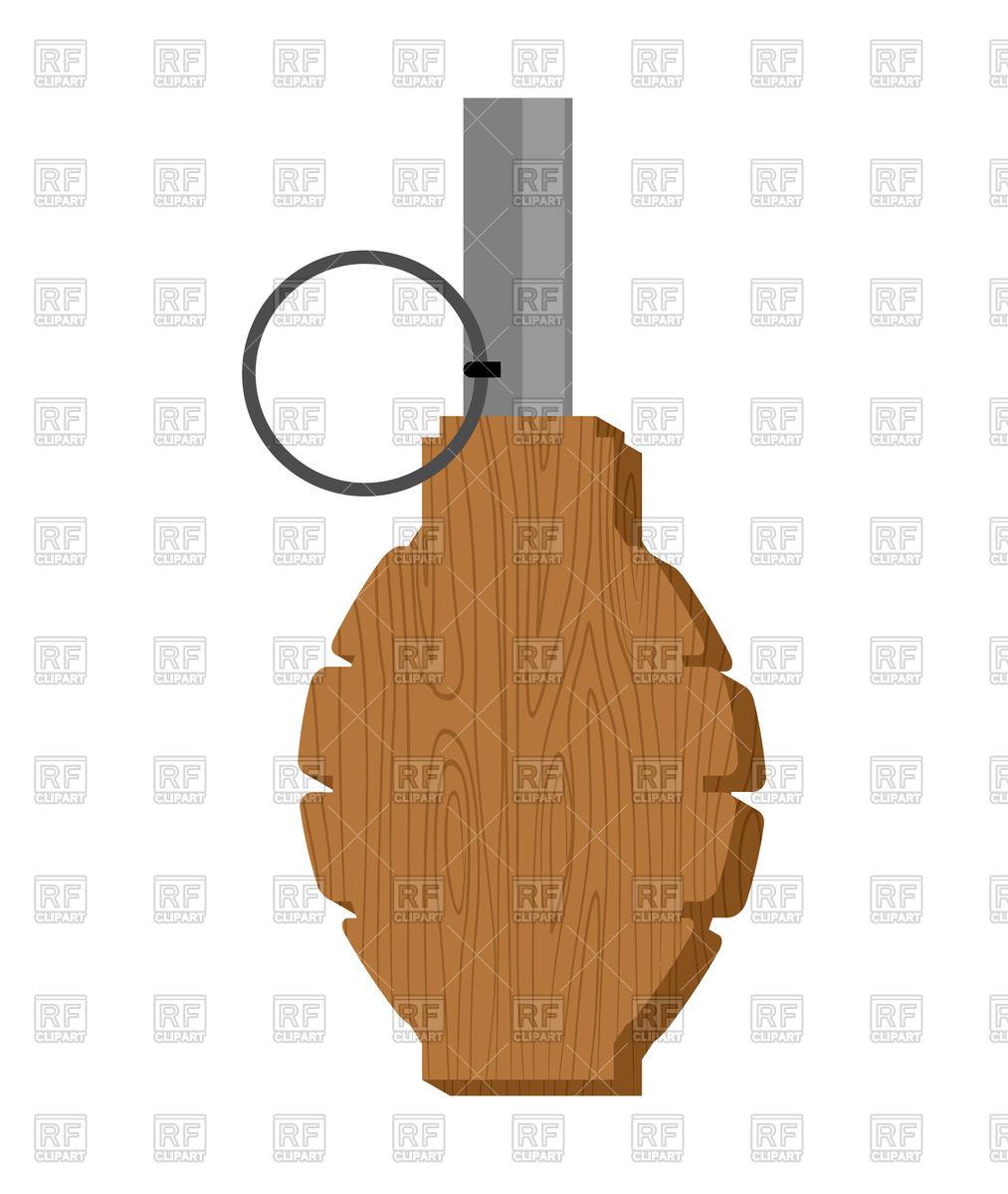 Wooden training grenade toy Stock Vector Image.