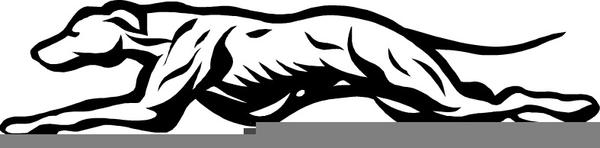 Greyhound Mascot Clipart.