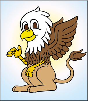 Clip Art: Baby Griffin Color I abcteach.com.